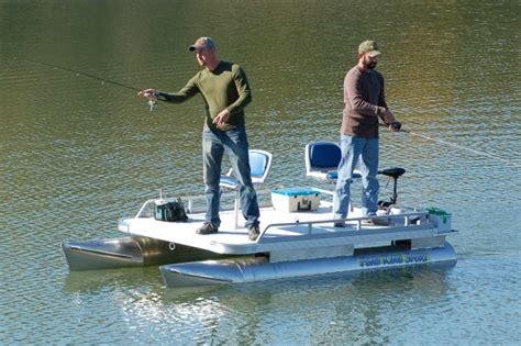 Small Lake Pontoon Boats by 12ft Fishing Pontoon Boat The Two Pond King Sport