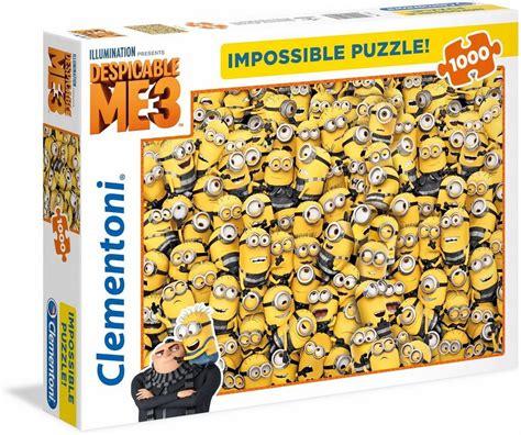 clementoni puzzle  teile minions impossible puzzle