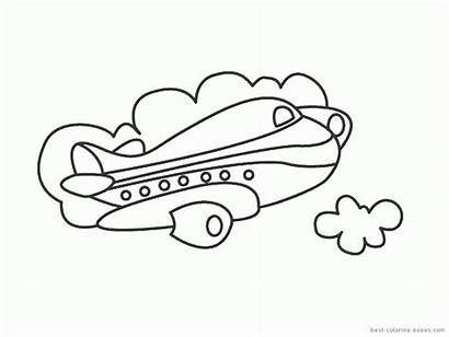 Transportation Coloring Pages Air Transport Colouring Vehicle