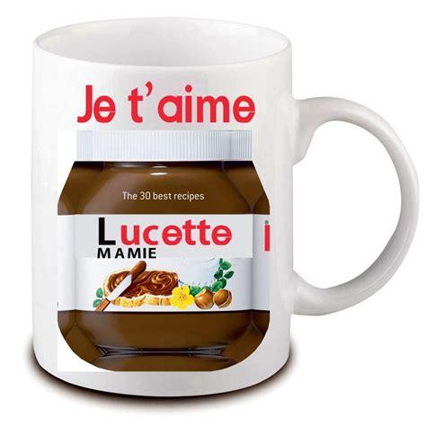mug nutella 224 personnaliser avec pr 233 nom cadeau mug pas cher original
