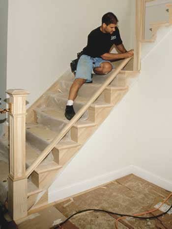 How To Install A Stair Banister by Installing Stair Railings Jlc Staircases
