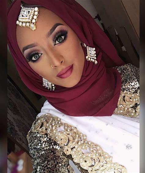 instagram photo  atbeautybyroxc  likes bridal hijab hijab makeup