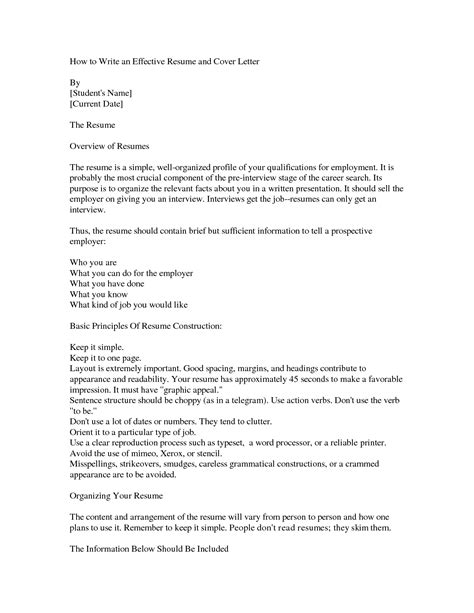 An Effective Resume by How To Write An Effective Cover Letter Bbq Grill Recipes