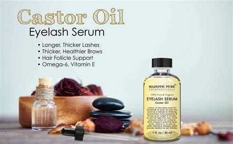 Amazon.com : Majestic Pure Castor Oil for Eyelashes Growth