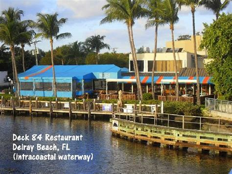 deck 84 delray fl happy hour looking south intracoastal waterway by deck 84