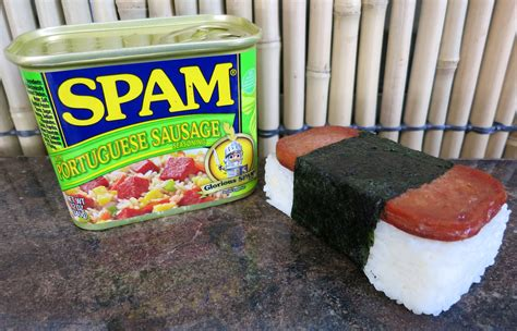 what is spam product review spam 174 portuguese sausage tasty island