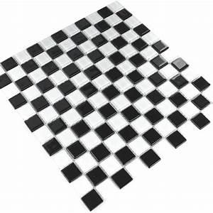 Fliesen Schachbrett Schwarz Weiss : glas mosaik fliese schachbrett schwarz weiss tm33013m ~ Markanthonyermac.com Haus und Dekorationen