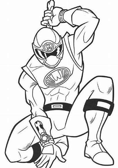 Rangers Coloring Power Pages Ninja Storm Ranger
