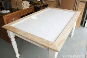 kitchen dining room design ideas tile top table makeover updating a tile top table with wood part 1 southern revivals
