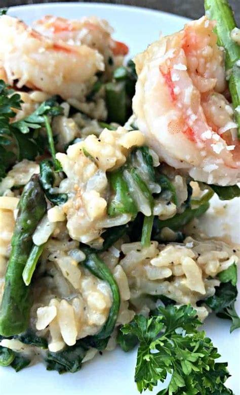 instant pot lemon shrimp risotto  vegetables  parmesan