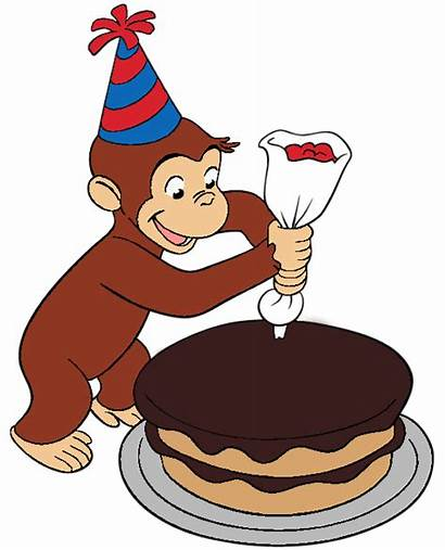 Curious George Birthday Cake Clipart Monkey Happy