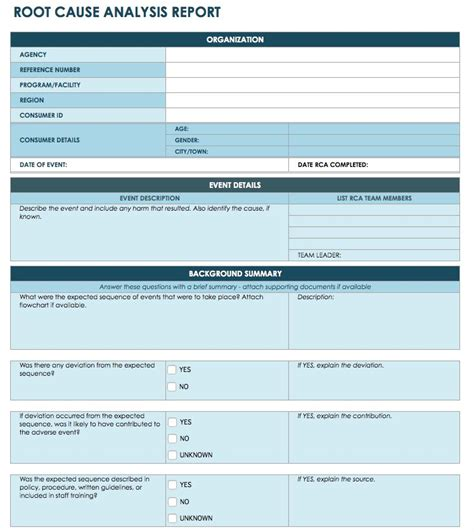 container rework request template root cause analysis template collection smartsheet