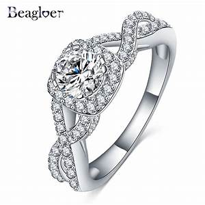 beagloer brand top selling shiny ring austrian crystal With top selling wedding rings