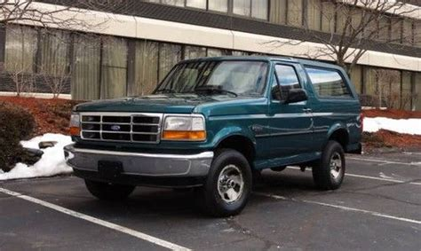 find   ford bronco xl coupe  teal rare  speed