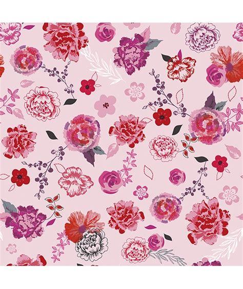 description d une chambre de fille papier peint intissé fleurs roses et rouges chambre d