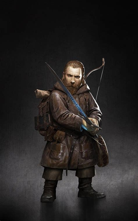 dwarf bard leather sword short bow backpack book drum