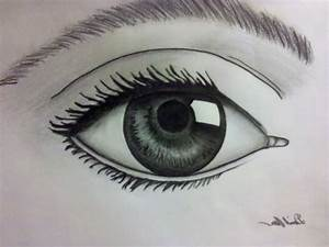 Anime Drawings In Pencil Easy Eyes - Drawing Artistic