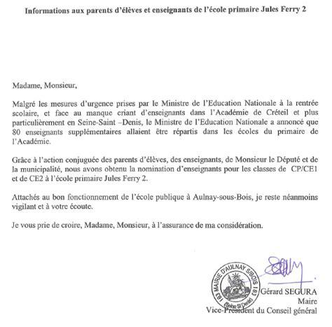 Exemple De Lettre D Absence Pour L école Maternelle