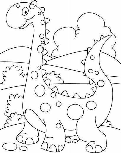Coloring Dino Walking Printout Dinosaur Pages Preschool