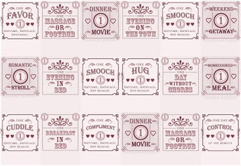 benign objects love coupon matchbooks  diyprintable