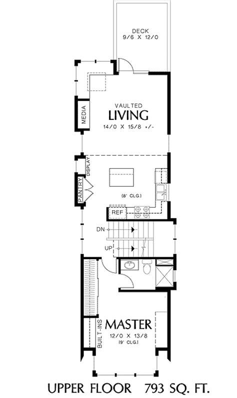 perfect home plan narrow lot floor master suite cad loft