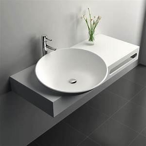 Meuble Salle De Bain Suspendu : meuble vasque salle de bain suspendu en composite 100 x 54 ~ Melissatoandfro.com Idées de Décoration