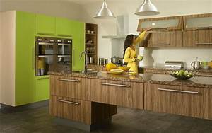 Duleek Olivewood and Lime Green High Gloss Kitchen