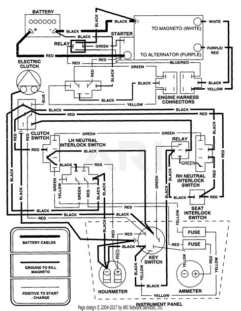 Electrical Wiring Diagram by Scag Ssz 18cv 48 3440001 3449999 Parts Diagram For