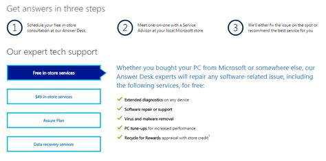 microsoft answer desk need help microsoft stores offer free tech support pc