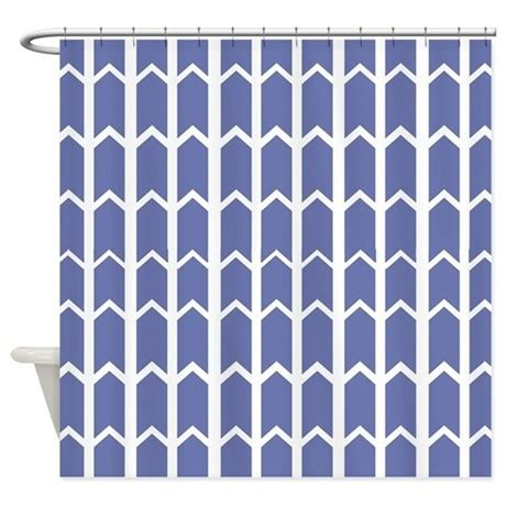 cornflower blue fence panel shower curtain by
