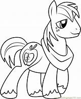 Coloring Pony Mcintosh Colouring Magic Friendship Macintosh Cartoon Coloringpages101 Printable Template sketch template