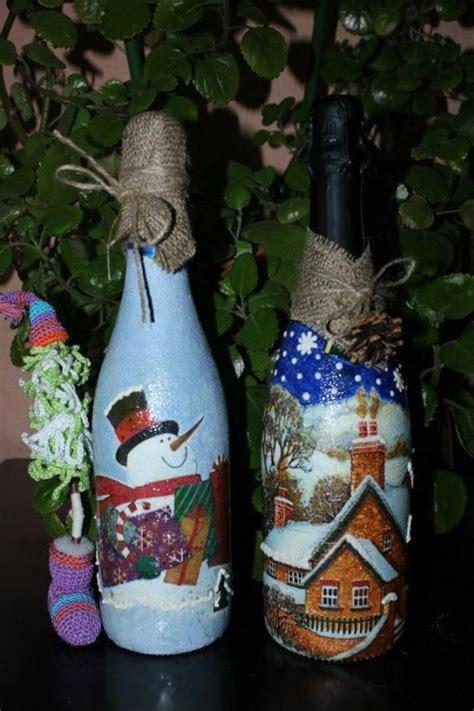 best 25 botellas decoradas para navidad ideas only on copas decoradas para navidad