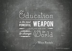 Education Is The Most Powerful Weapon Poster : mandela on education quotes quotesgram ~ Markanthonyermac.com Haus und Dekorationen
