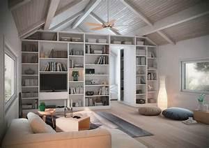 bibliotheque concue comme une separation de piece entre With idee deco entree maison 5 15 idees de rangements pratiques et astucieuses