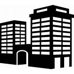 Icon Building Tower Perspective Icons Buildings Vector