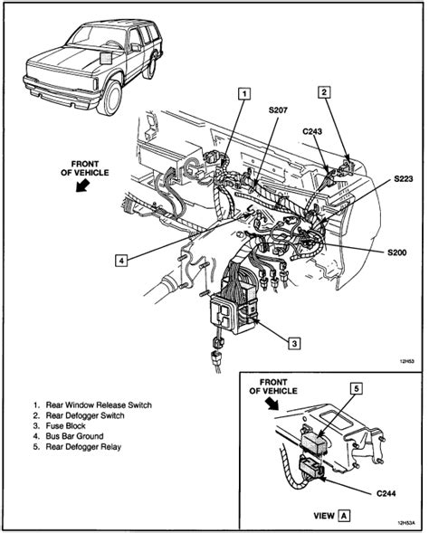 94 Chevy 1500 Transfer Wiring Diagram by Wiring Diagram Blazer S10 1994 Aux Like Rear Defog Etc