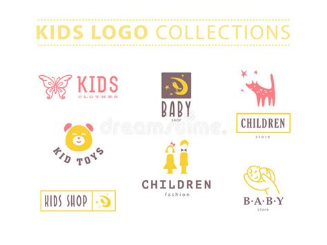 Vector Collection Of Baby Logo Stock Vector  Image 62148385