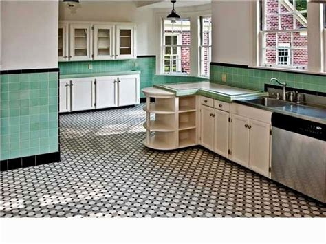 kitchen floor black copper