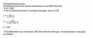 Stichprobenumfang Berechnen Formel : quantitative befragung bibliotheksportal ~ Themetempest.com Abrechnung