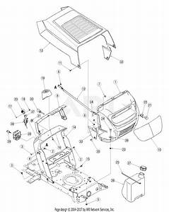Mtd 13ah762f752  2005  Parts Diagram For Hood Style 2