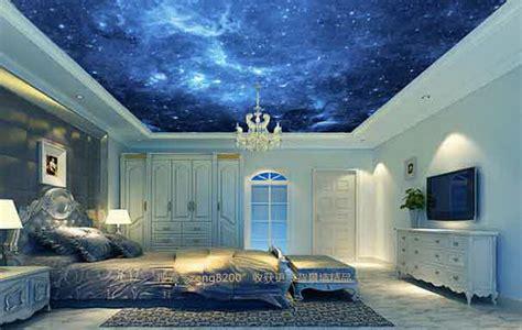 dark blue night sky wallpaper ceiling decals wall art