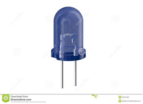 le a diode electroluminescente diode 233 lectroluminescente bleue de led illustration stock image 55314324