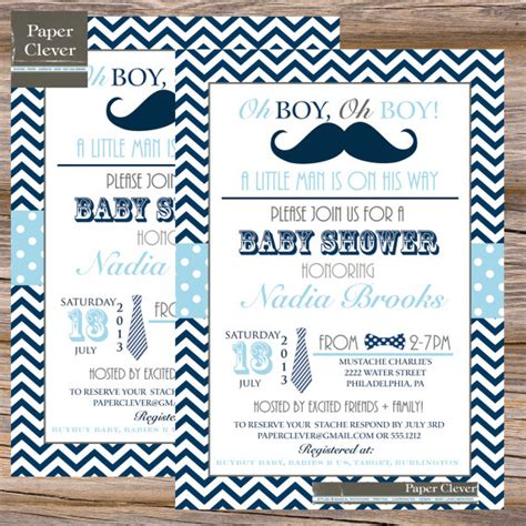 bow tie boy baby shower boys baby shower invitation bow tie mustache navy by paperclever