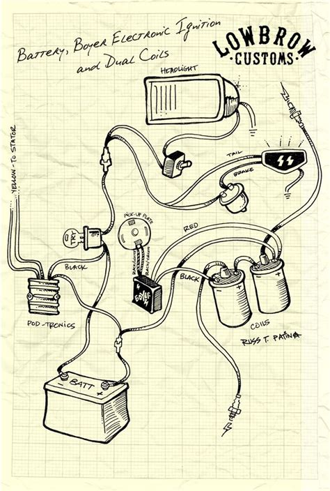 lowbrow customs motorcycle wiring diagram boyer