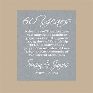60th anniversary gift diamond anniversary personalized With 60 wedding anniversary gift