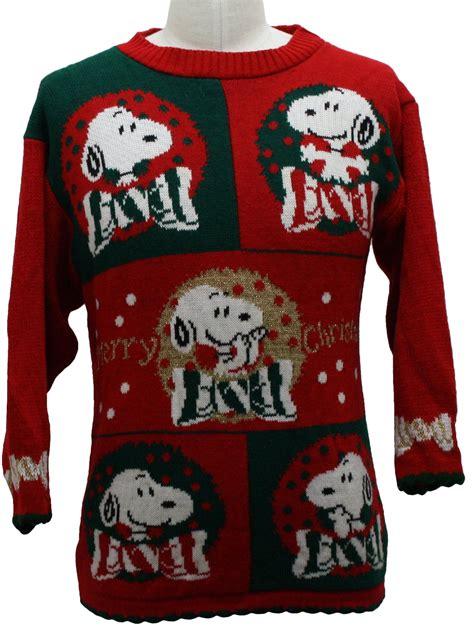snoopy sweater vintage 80s vintage snoopy sweater 80s