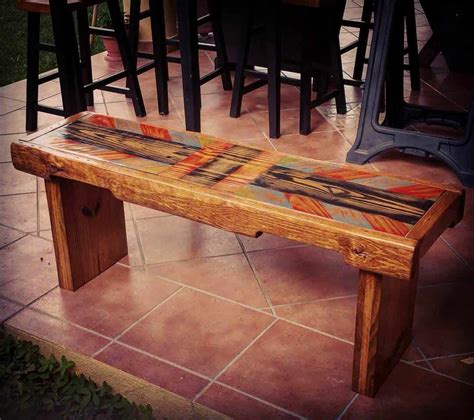 painted pallet bench  pallets