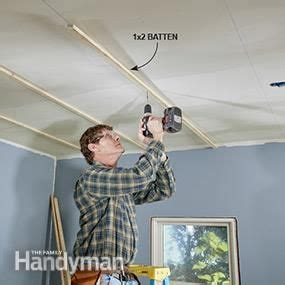 Installing Shiplap Drywall by How To Install A Tongue And Groove Ceiling Weekend