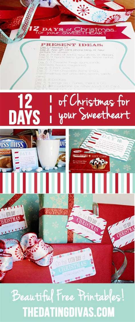 12 days of christmas countdown for your sweetheart
