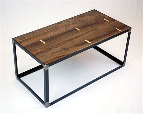 Hand Crafted Salvaged Black Walnut Industrial Coffee Table